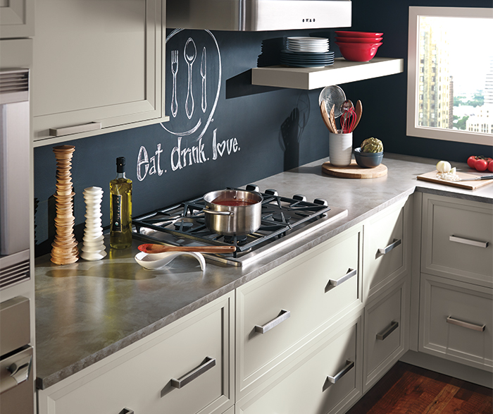 Grey Cabinets in a Casual Kitchen